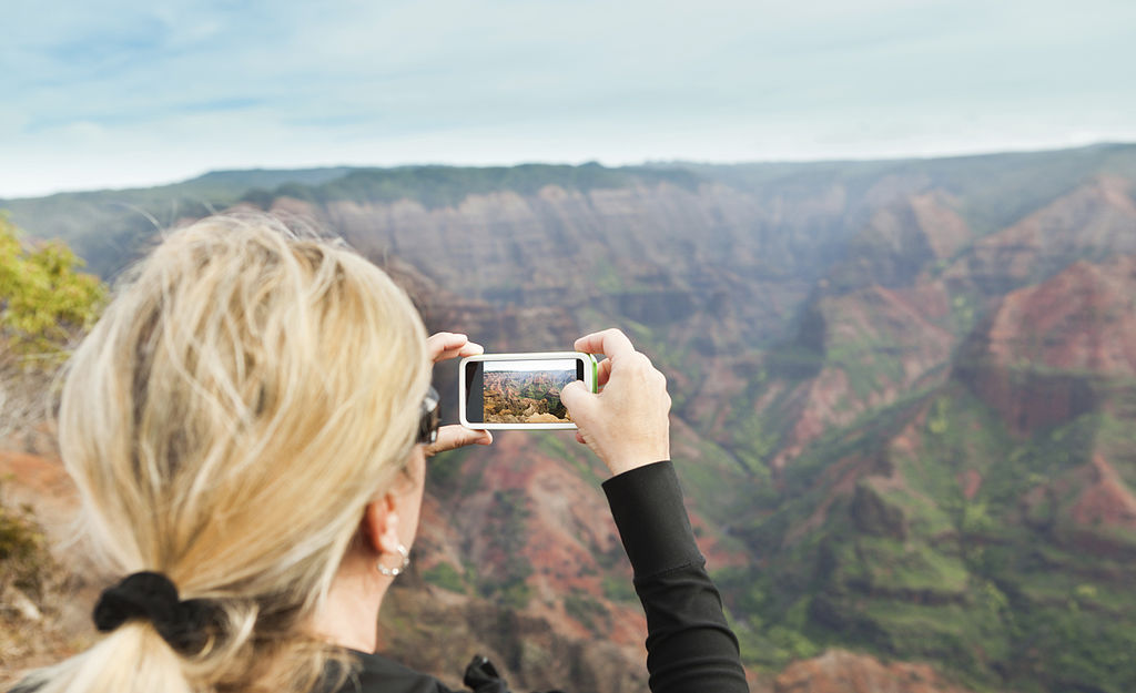 Woman taking a picture